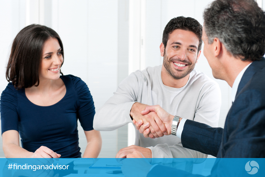 Young couple meeting with an Advisor