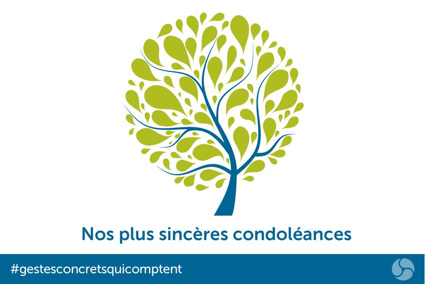 Nos plus sincères condoléances
