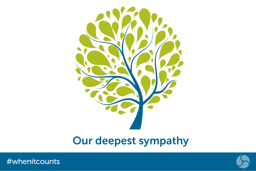 Our deepest sympathy