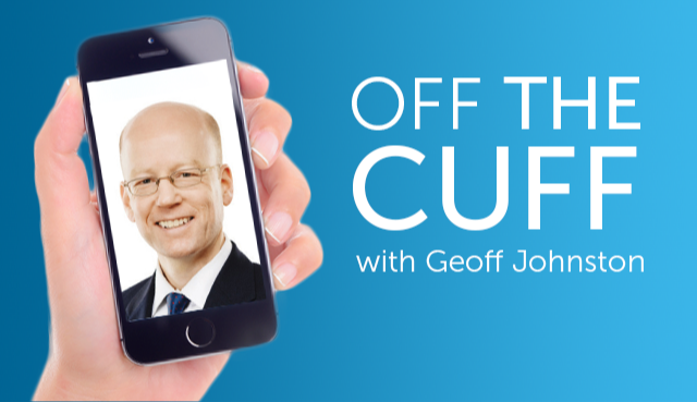 Off the Cuff video with Geoff Johnston