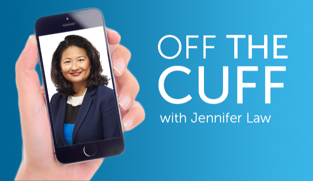 Off the cuff with Jennifer Law