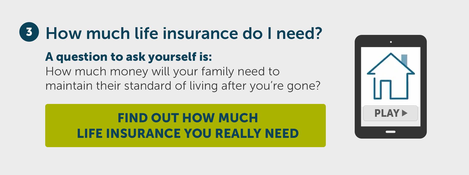 How much life insurance do I need?