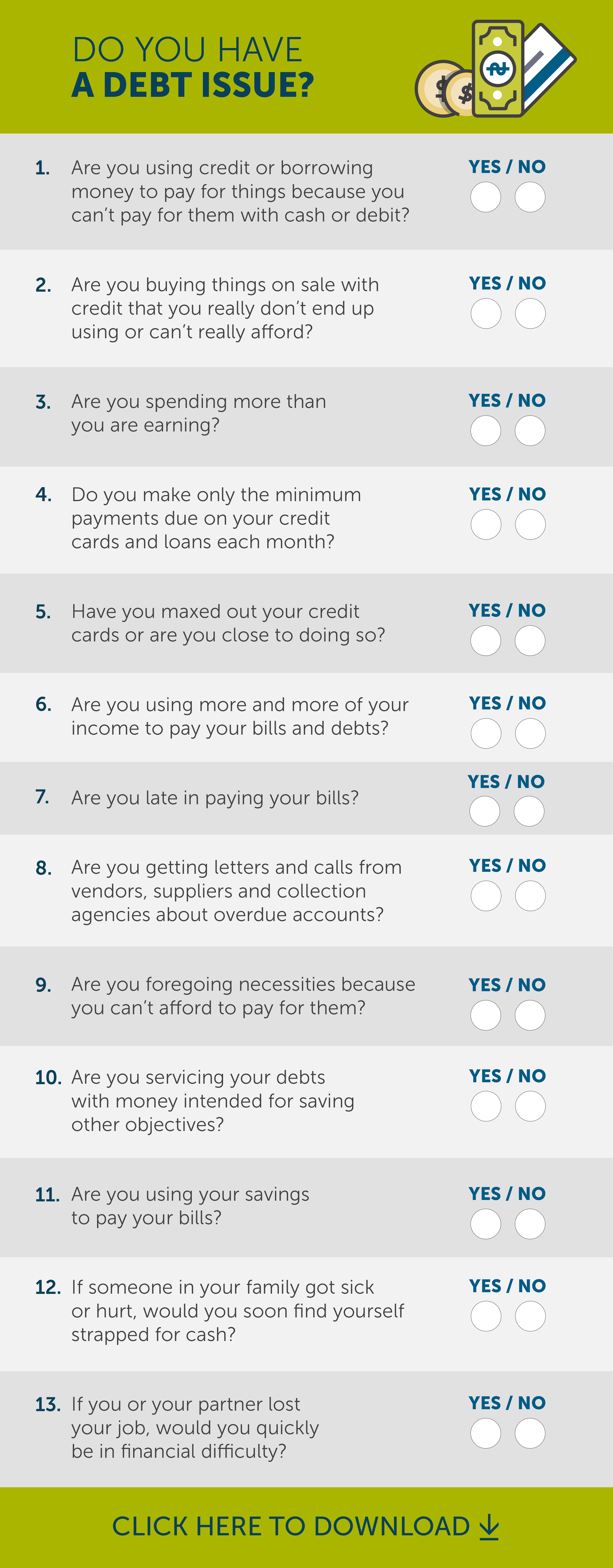 Do you have a debt issue test
